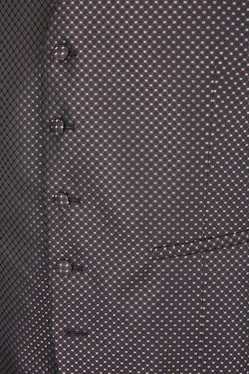 WILVORST bordó szmoking mellény mintázat 487123-51 Modell 87