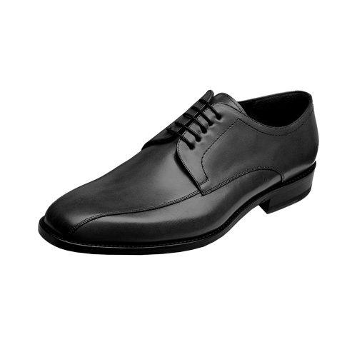 WILVORST fekete bőr cipő 448307-10 Modell 0293