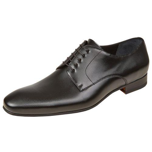 WILVORST fekete bőr cipő 448322-10 Modell 0223