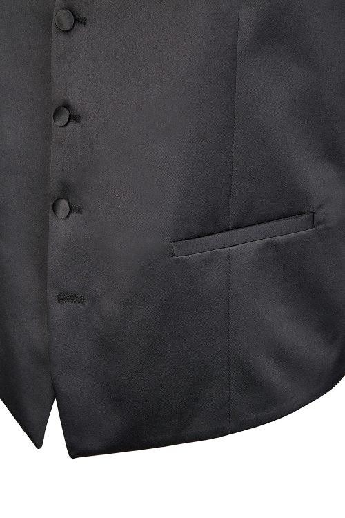 WILVORST fekete szmoking mellény részletek 470150-1 Modell 40