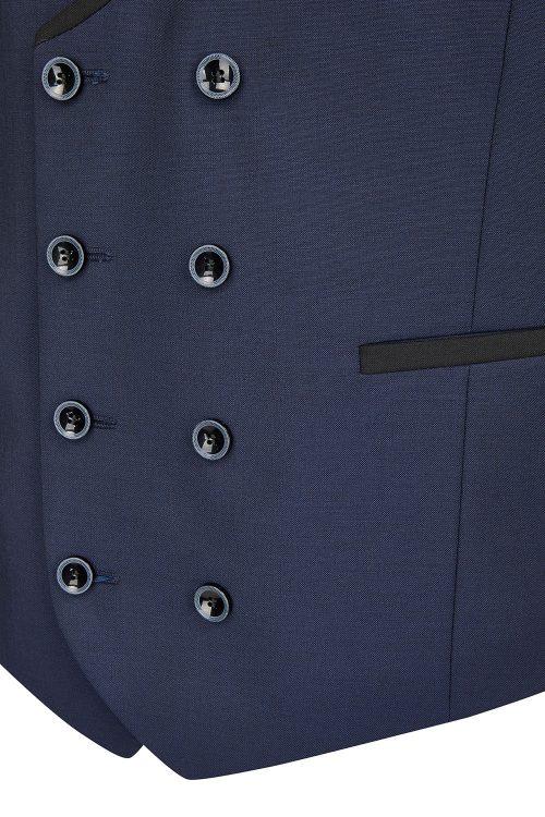 WILVORST kék szmoking mellény részletek 471201-32 Modell 10