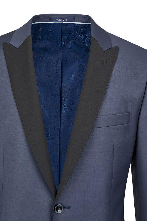 WILVORST kék szmoking zakó részletek 441200-35 Modell 13561-2