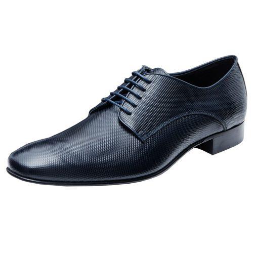WILVORST sötétkék bőr cipő 448313-32 Modell 0258