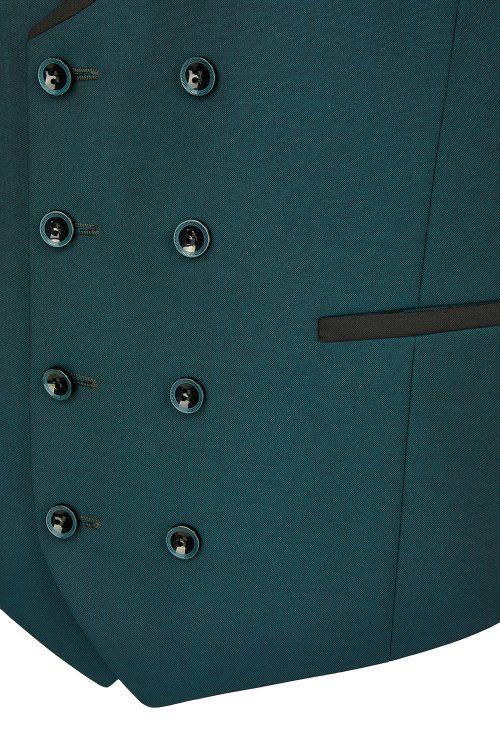 WILVORST zöld szmoking mellény részletek 471201-41 Modell 10